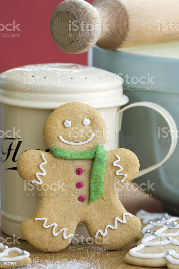 Gingerbread man royalty-free stock photo