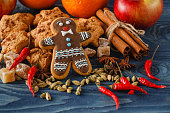 gingerbread man with sugar, spices