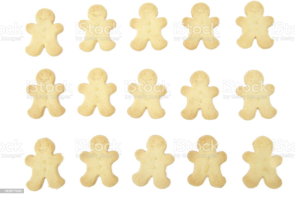 Gingerbread Masses royalty-free stock photo
