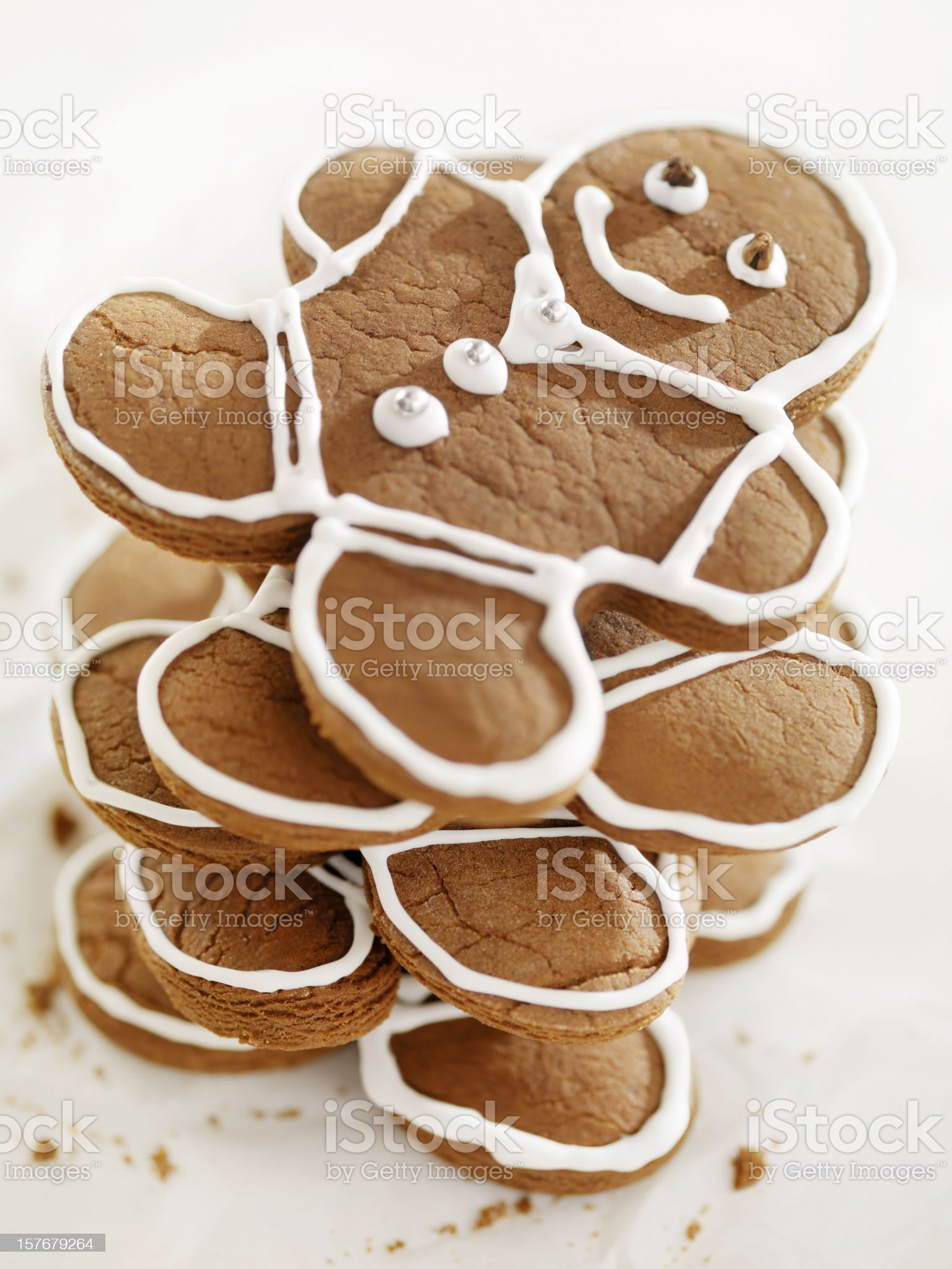 Gingerbread Men Cookies at Christmas Time royalty-free stock photo