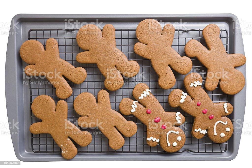 Gingerbread Men Cookies stock photo