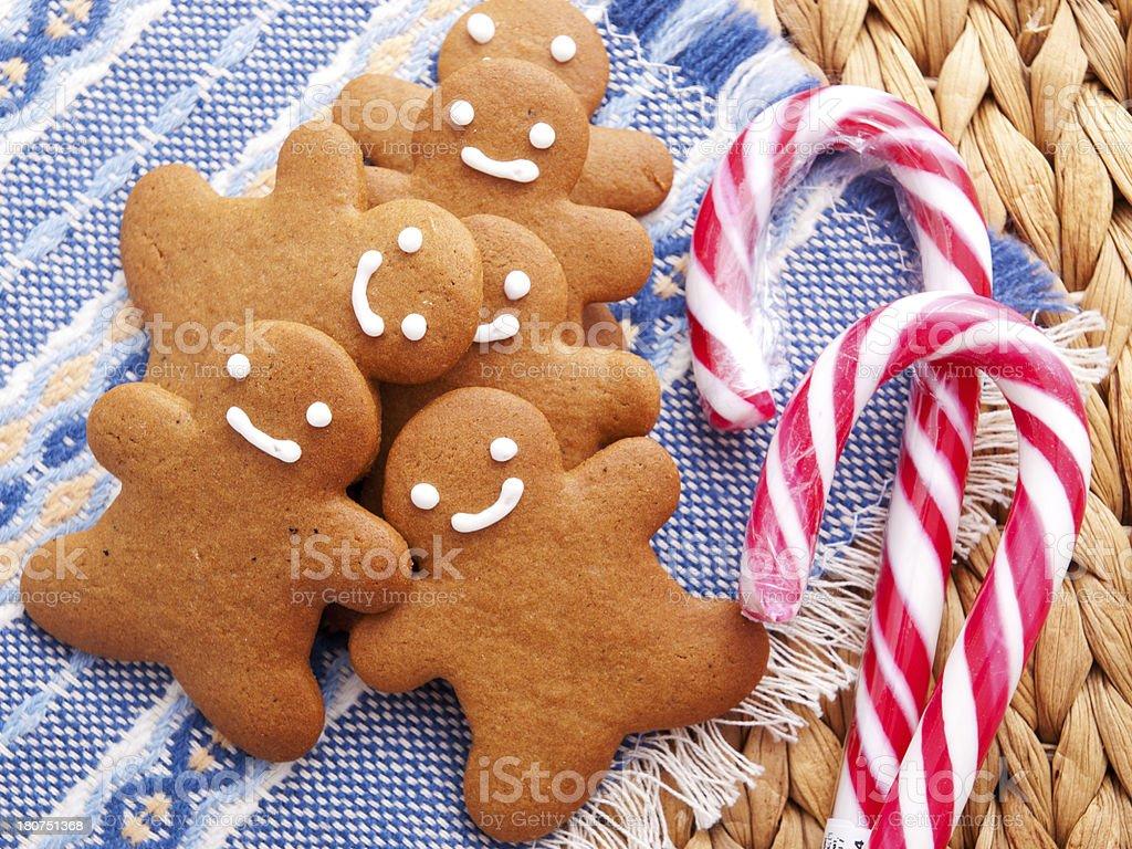 Gingerbread men royalty-free stock photo