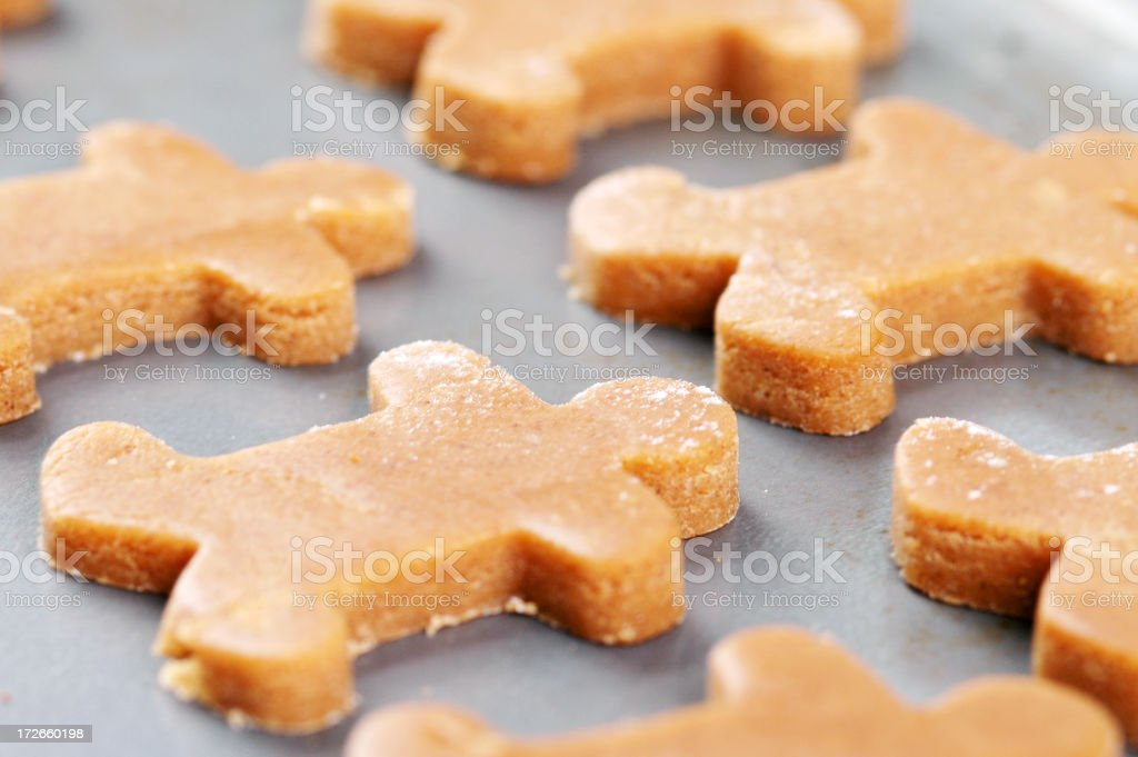 Gingerbread Men, Ready for the Oven royalty-free stock photo