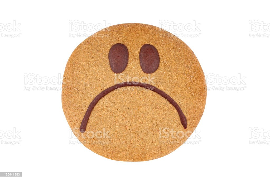 Gingerbread smiley royalty-free stock photo