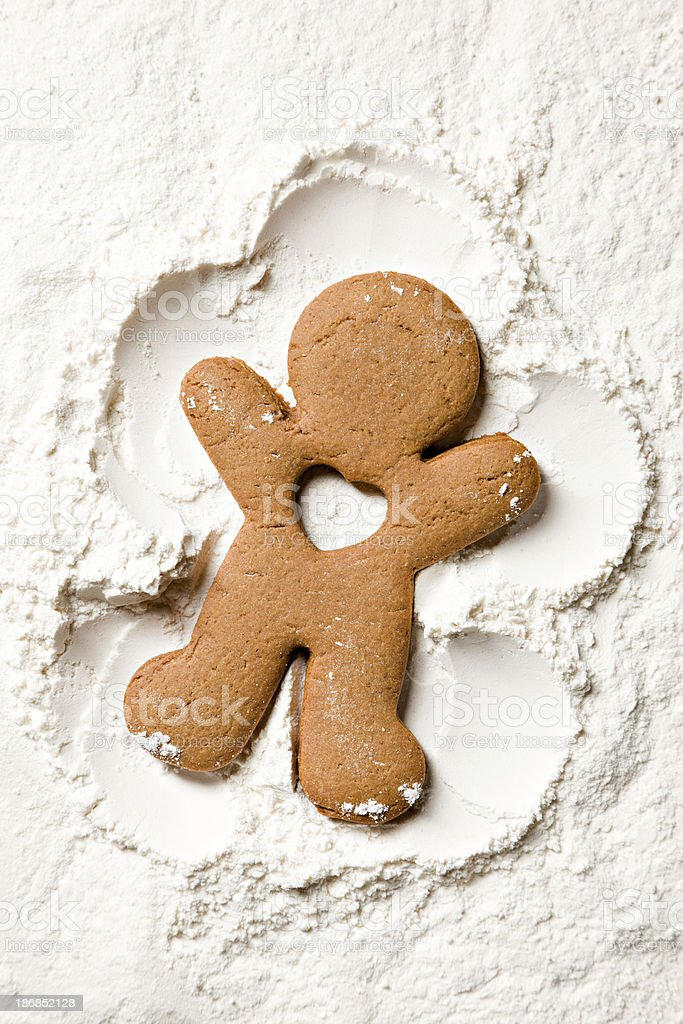 Gingerbread Snow Angel With No Heart stock photo