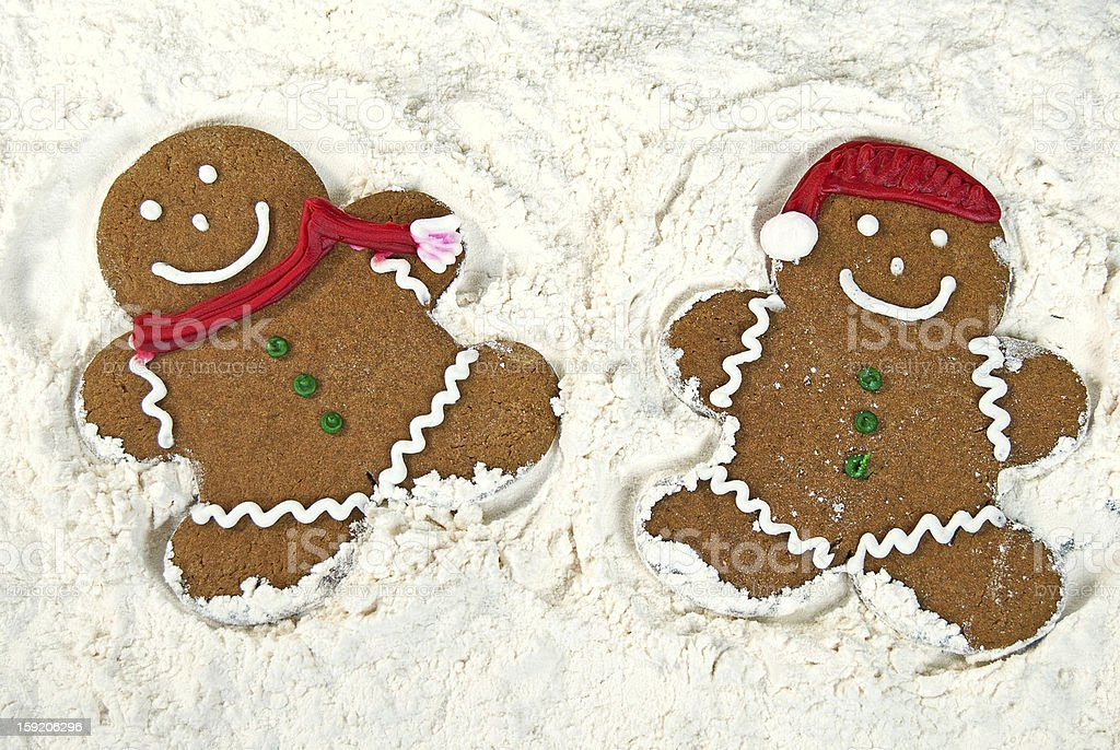 Gingerbread Snow Angels royalty-free stock photo
