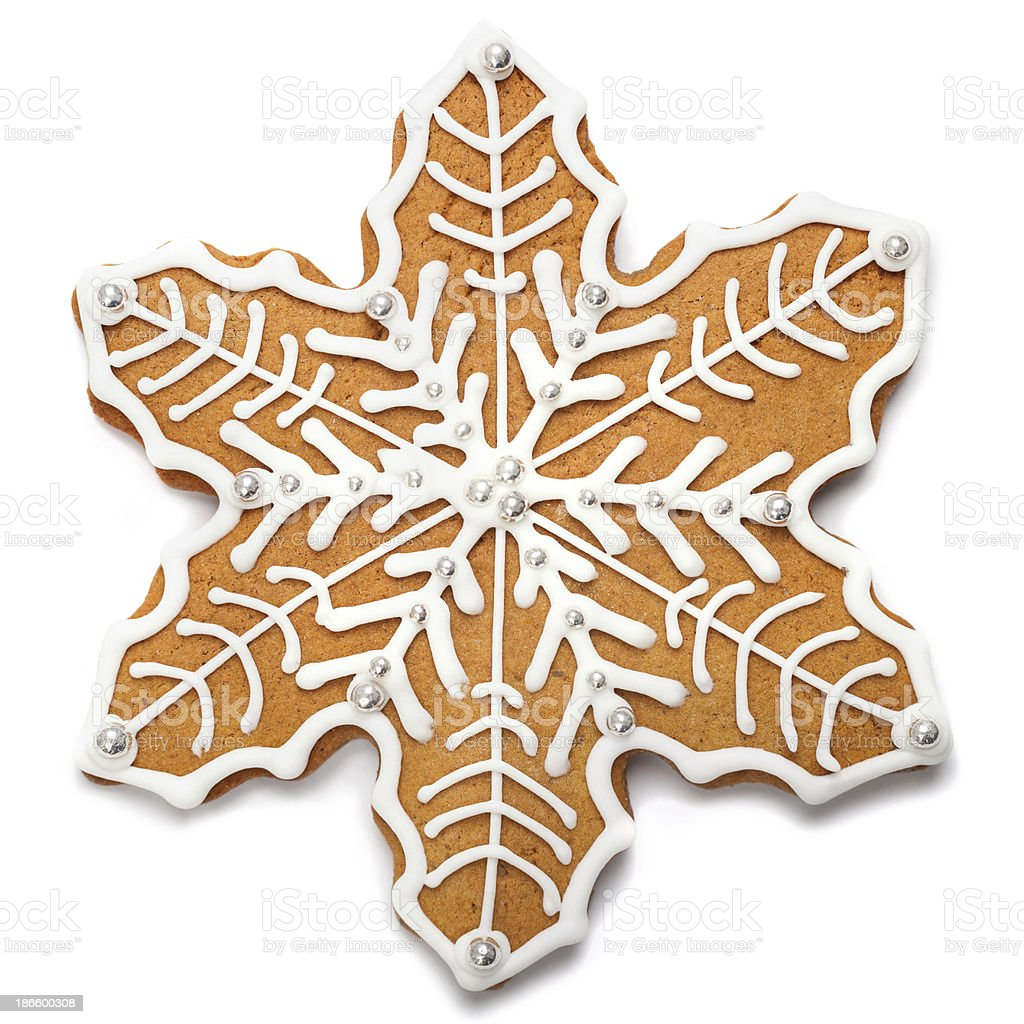Gingerbread snowflake royalty-free stock photo