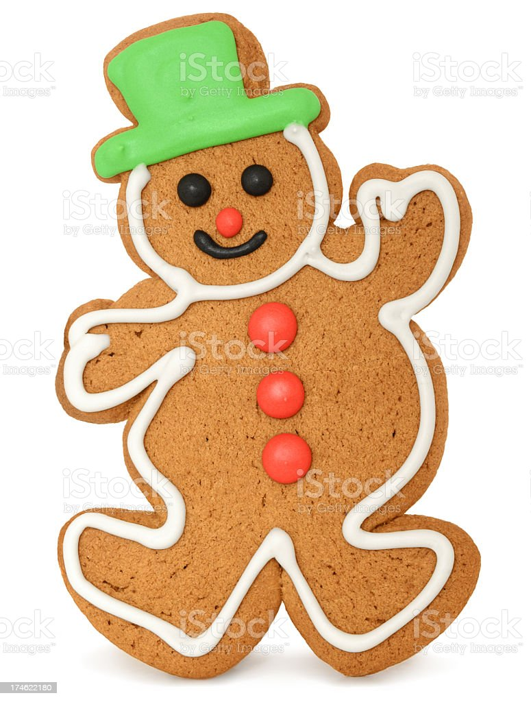 Gingerbread Snowman stock photo
