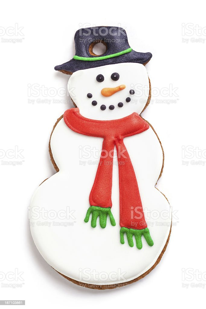 Gingerbread snowman royalty-free stock photo