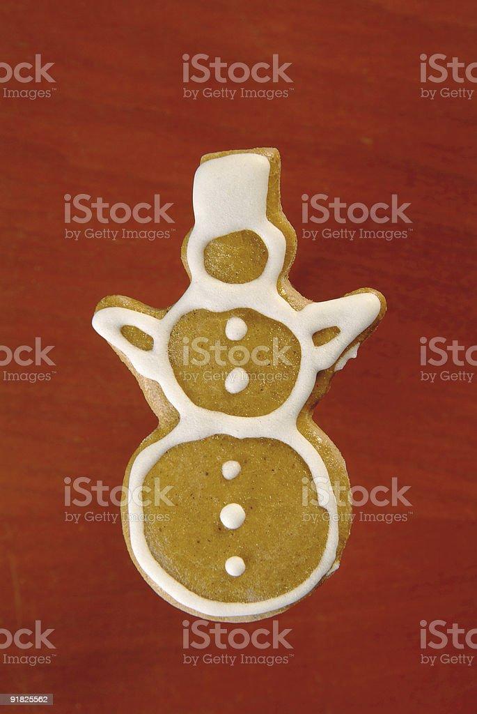 Имбирный Снеговик Стоковые фото Стоковая фотография