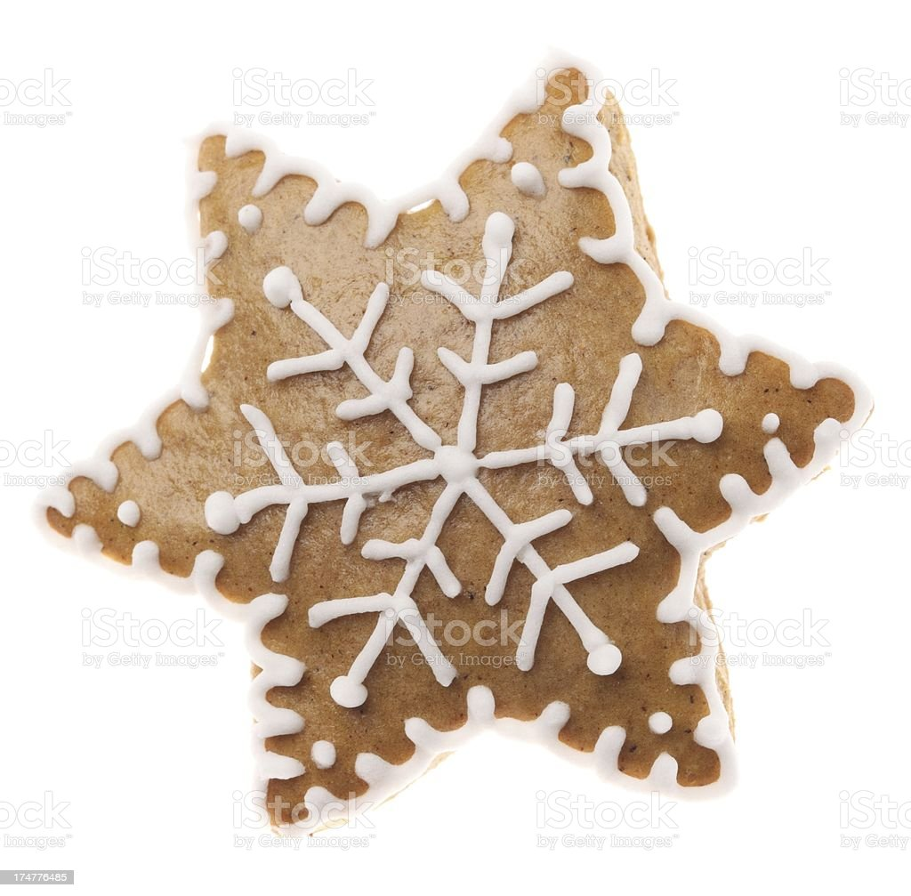 Gingerbread star royalty-free stock photo