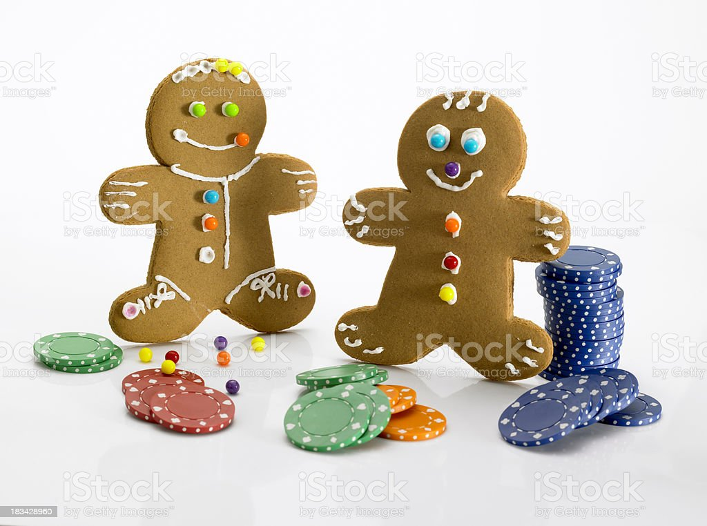 Gingerbread Strip Poker stock photo