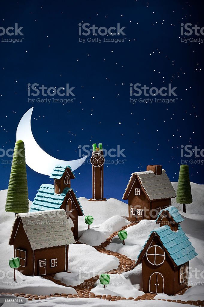 Gingerbread village royalty-free stock photo