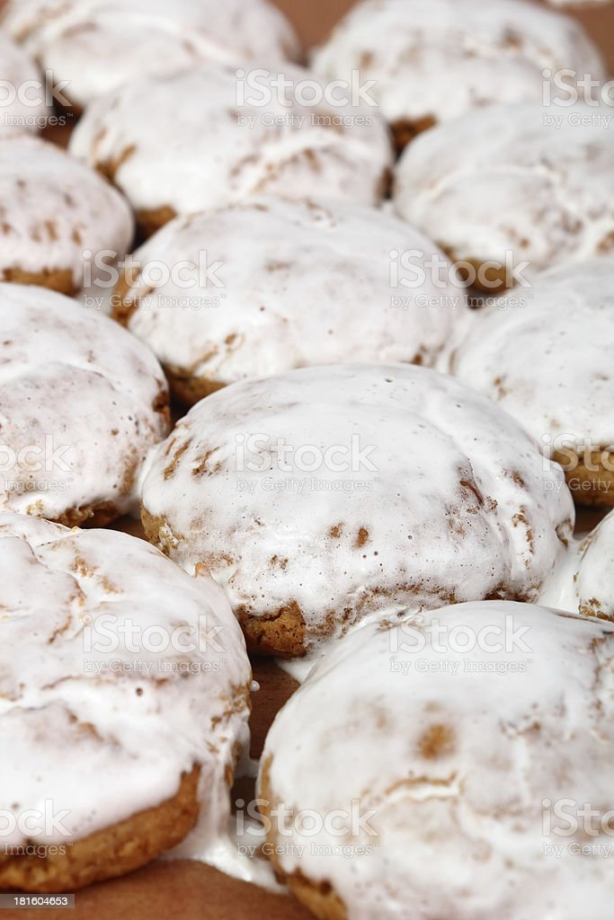 Gingerbread with Sugar Icing royalty-free stock photo