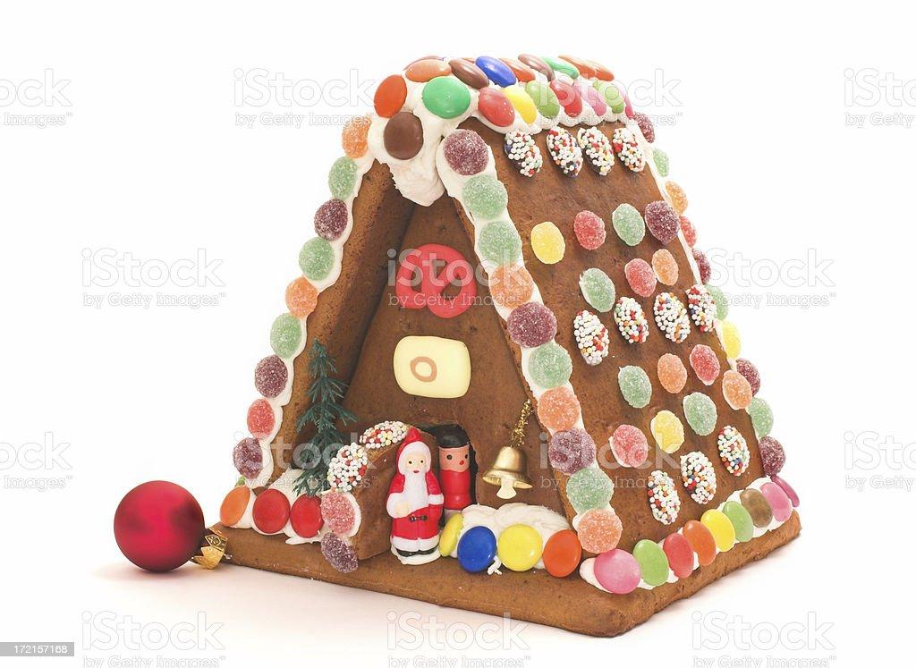 gingerbresd santas house royalty-free stock photo