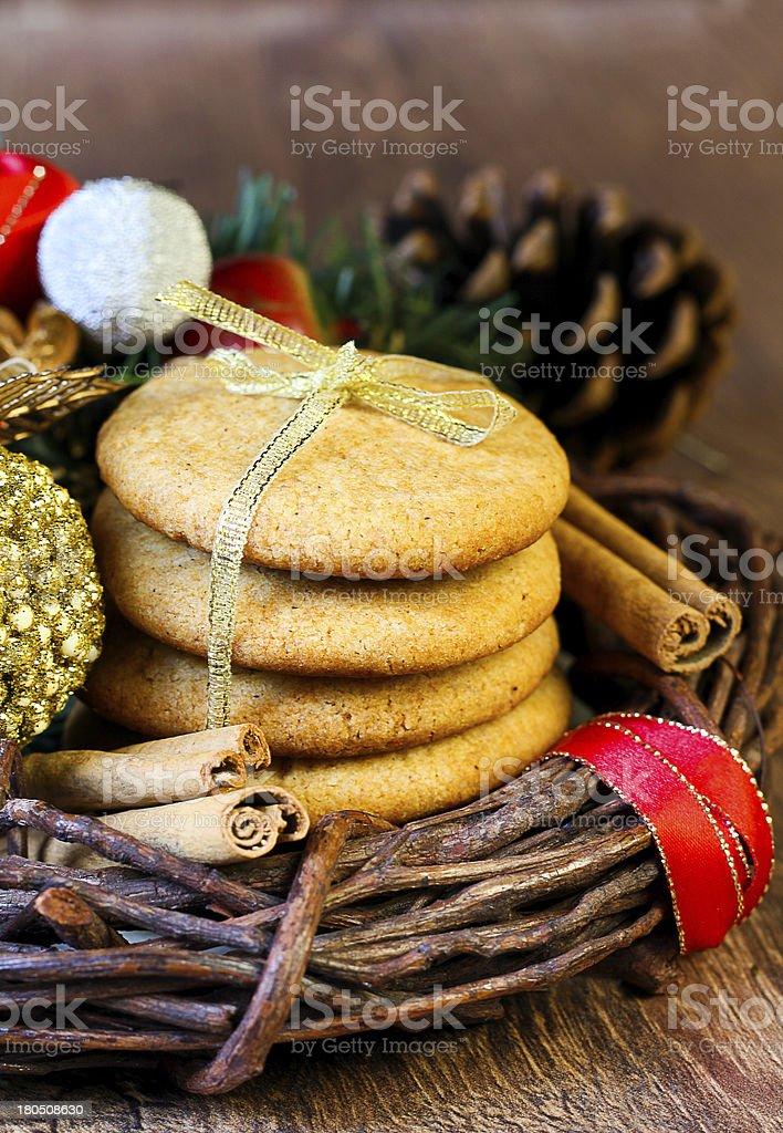 Gingersnap cookies stock photo