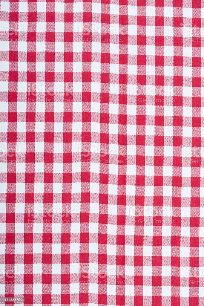 Gingham Fabric royalty-free stock photo