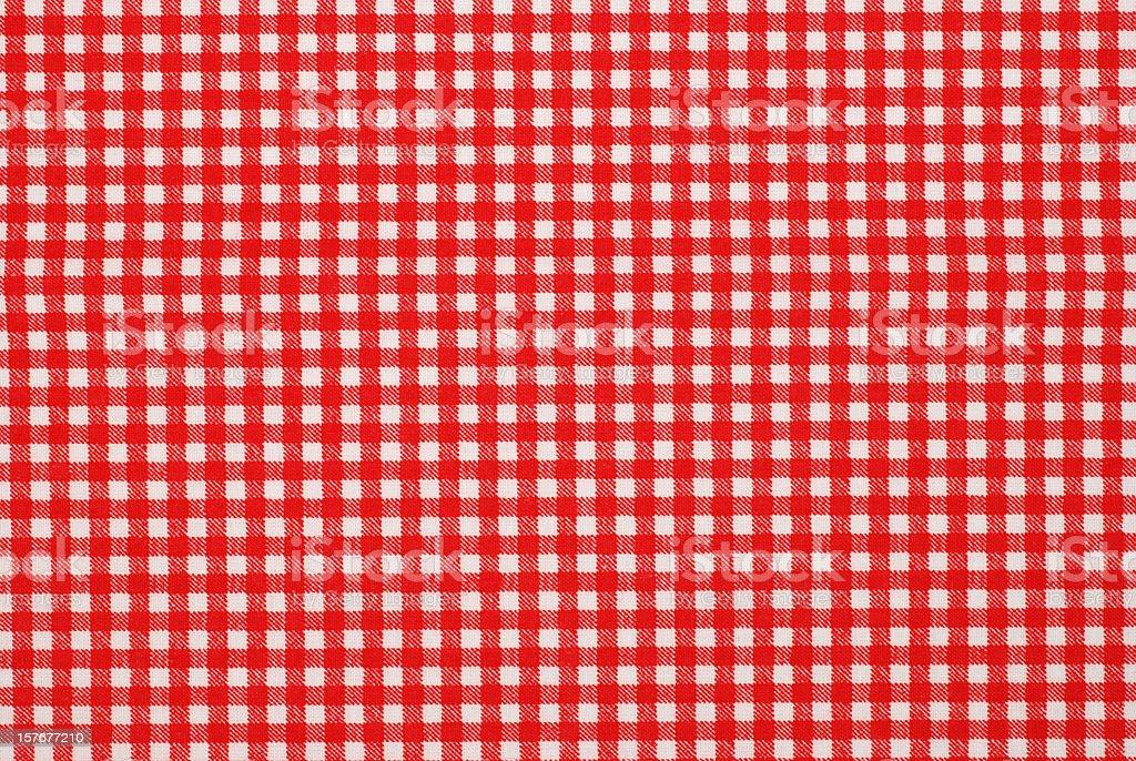 gingham pattern fabric stock photo