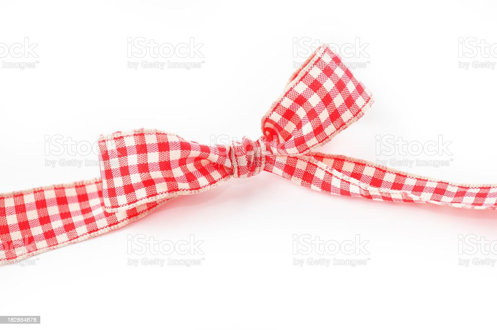 Gingham ribbon and bow royalty-free stock photo