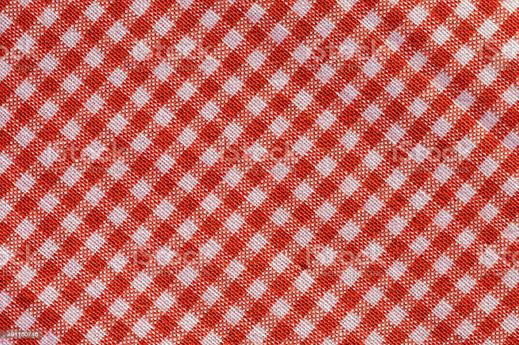 Gingham tablecloth checkered pattern stock photo