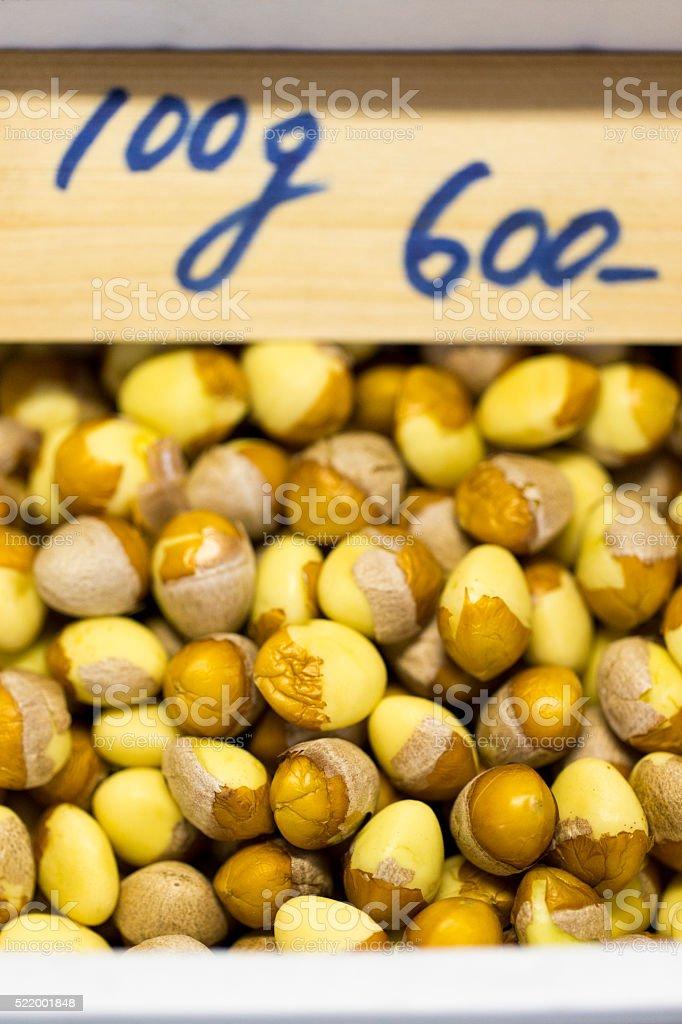 Gingko Nuts in Japan stock photo
