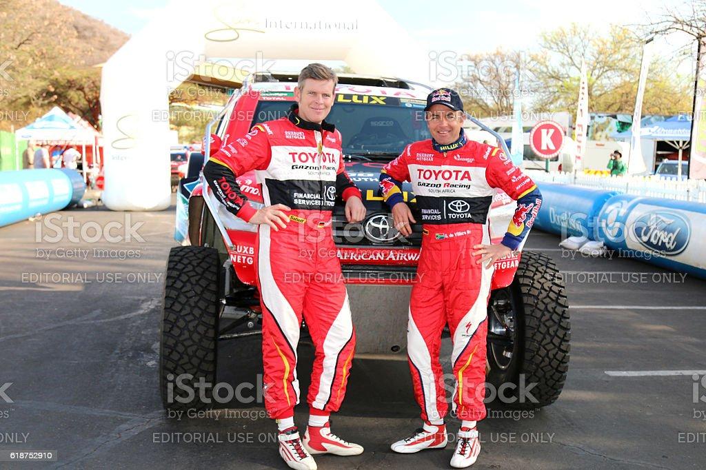 Giniel de Villiers and Dirk von Zitzewitz Dakar Racers stock photo