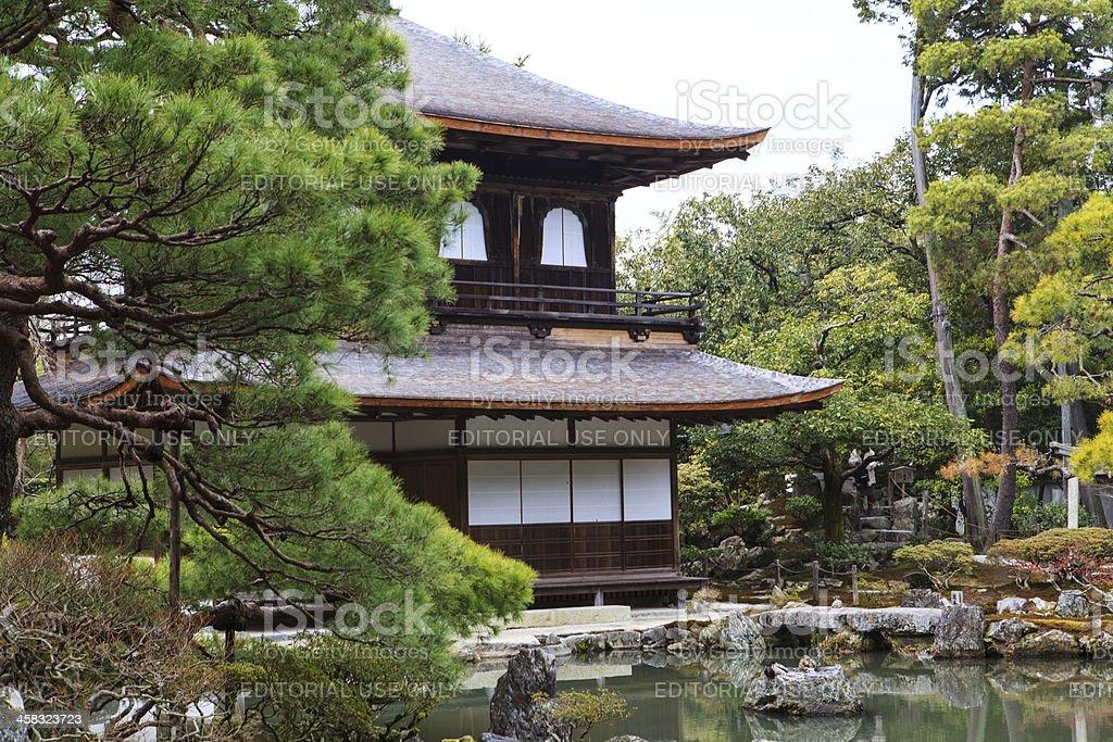 Ginkakuji temple - Kyoto, Japan stock photo
