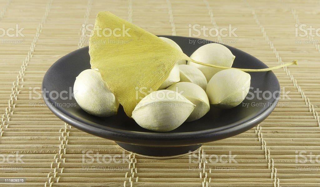 Ginkgo nuts stock photo
