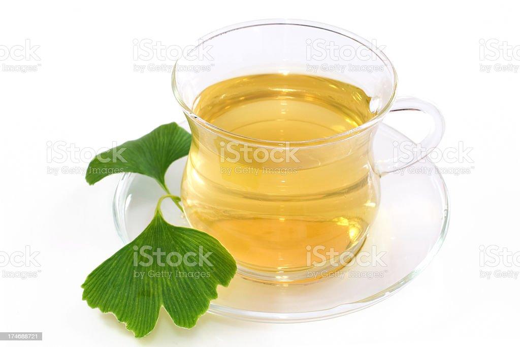 Ginkgo tea royalty-free stock photo