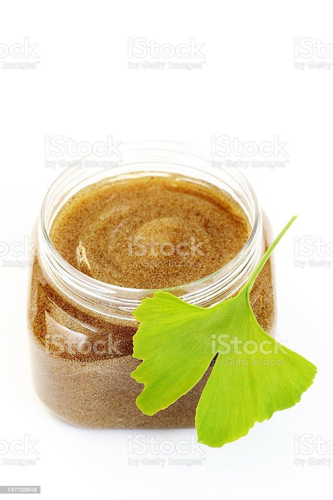 ginko body scrub royalty-free stock photo
