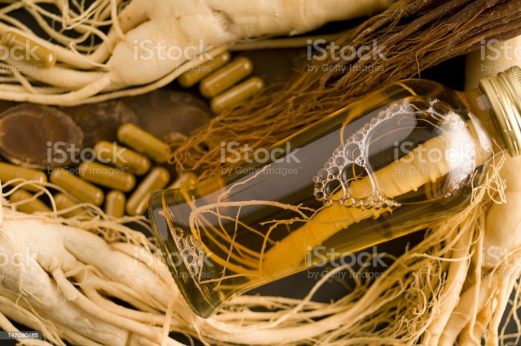 Ginseng Extract Liquid royalty-free stock photo