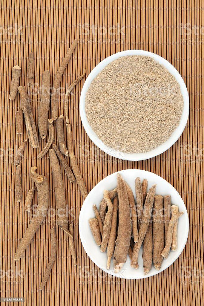 Ginseng Herb stock photo