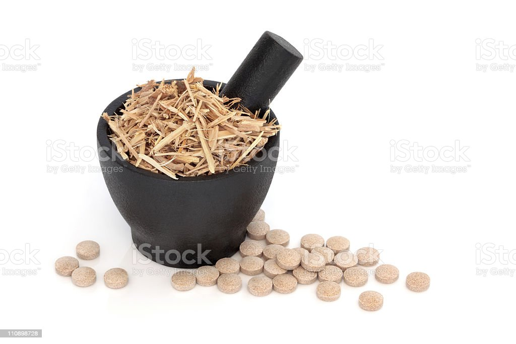 Ginseng Herbal Therapy royalty-free stock photo