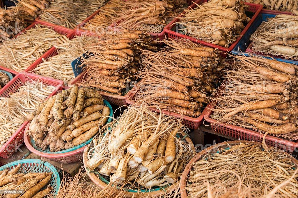 Ginseng Market stock photo