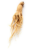 Ginseng root isolated on white