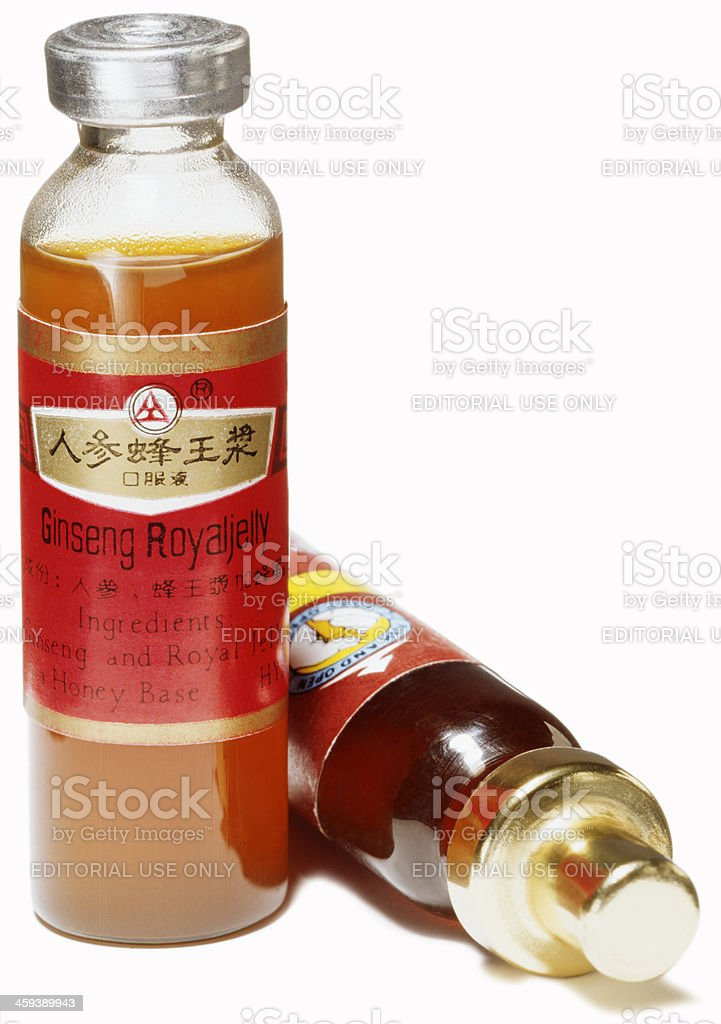 Ginseng Royal Jelly royalty-free stock photo