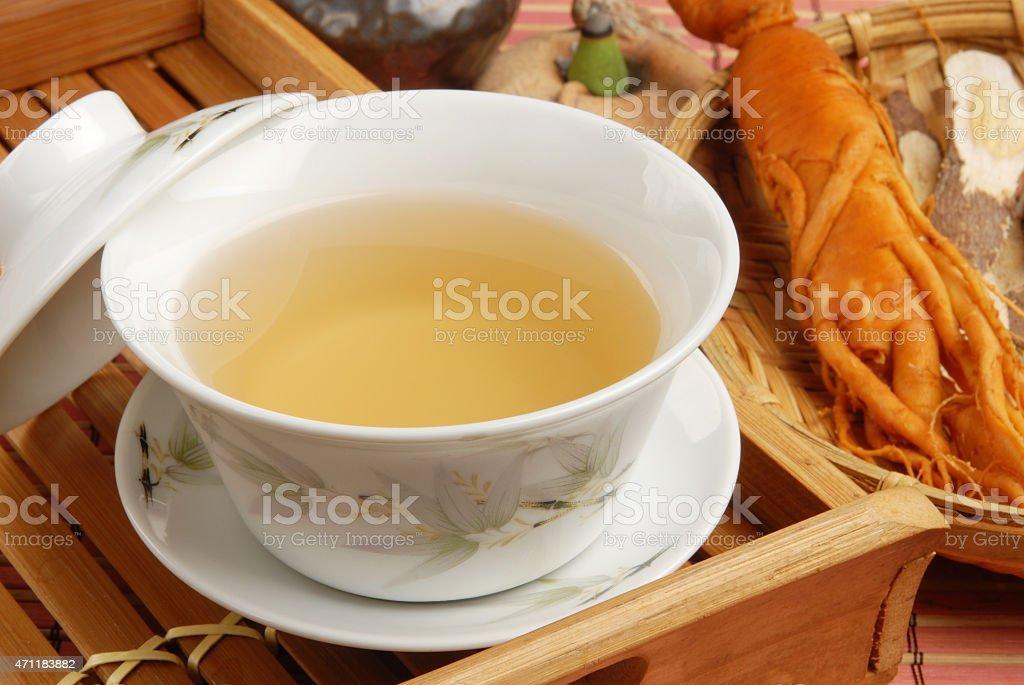 Ginseng tea stock photo