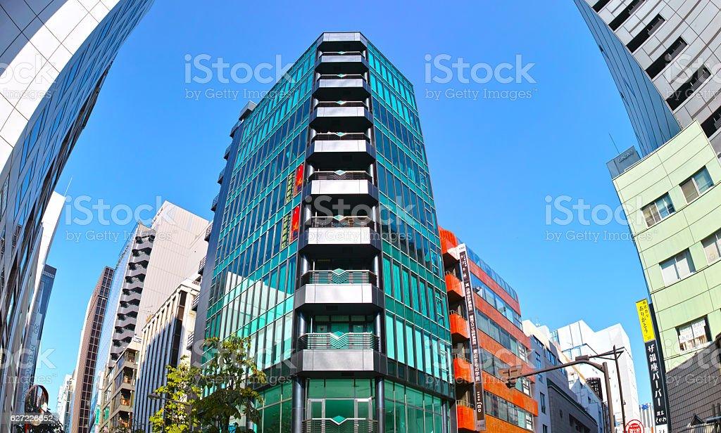 Ginza city stock photo