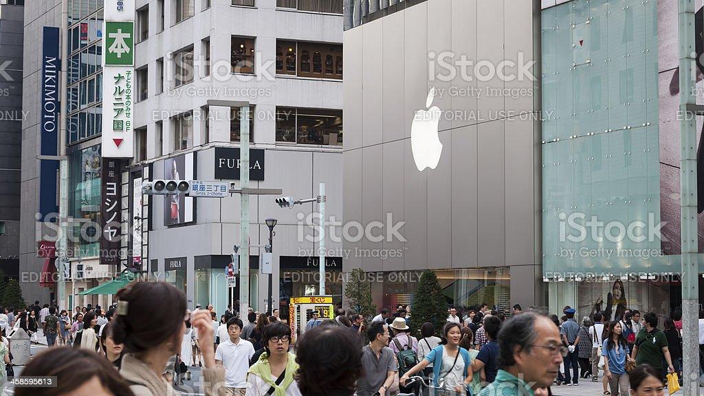 Ginza royalty-free stock photo