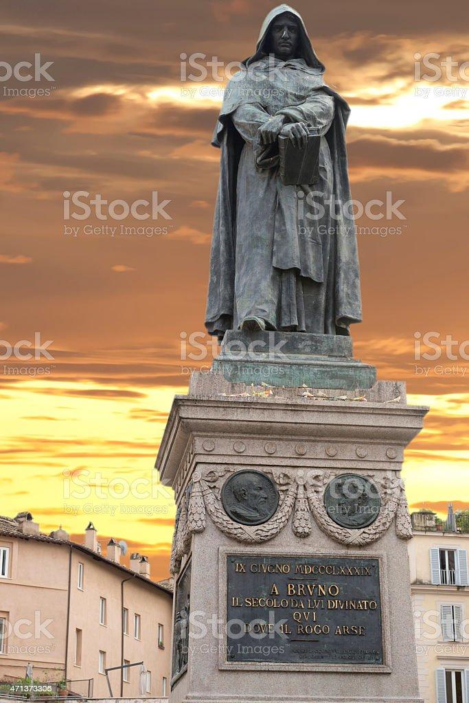 giordano bruno statue stock photo