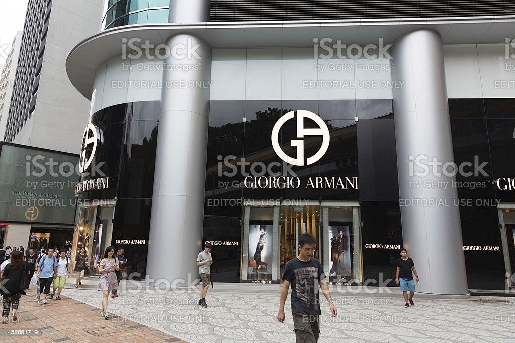 Giorgio Armani Flagship Store in Hong Kong royalty-free stock photo