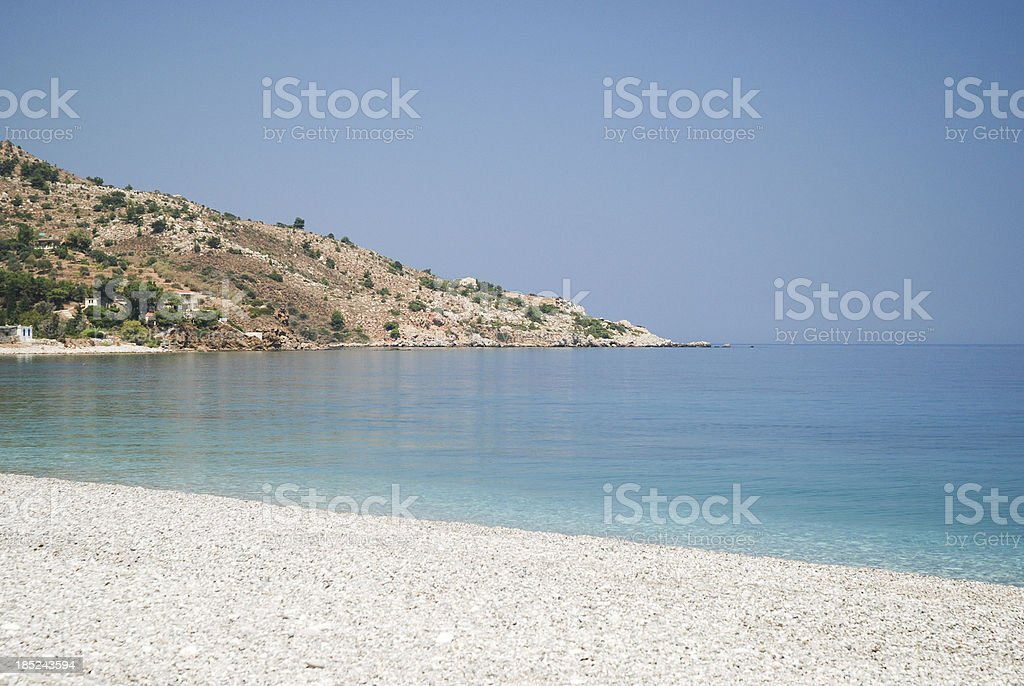 Giosonas beach, Chios stock photo