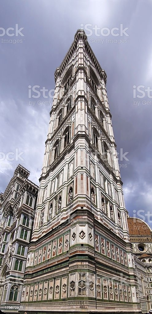 Giotto bell tower in Florence   from below stock photo