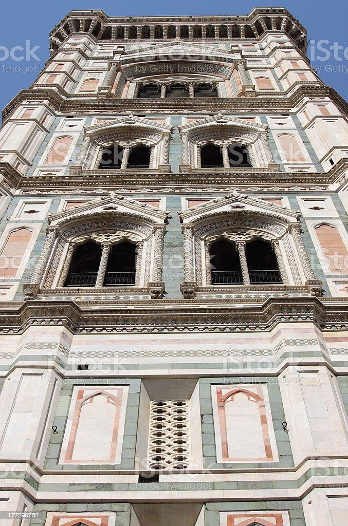 Giotto Bell Tower in Florence stock photo