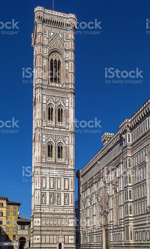Giotto Campanile, Florenca, Italy stock photo