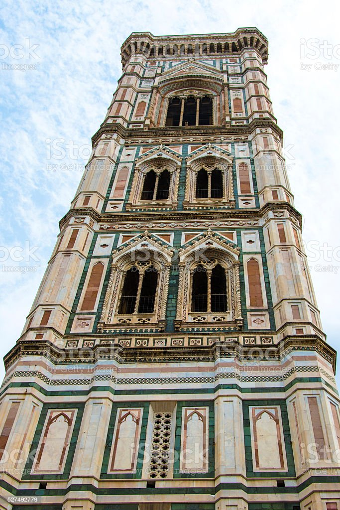 Giotto's bell tower, cathedral of Santa Maria del Fiore Florence stock photo