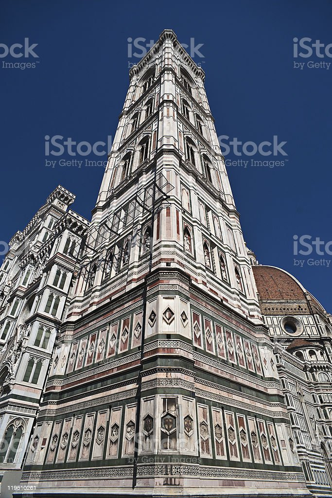 Giotto's bell tower, Florence royalty-free stock photo
