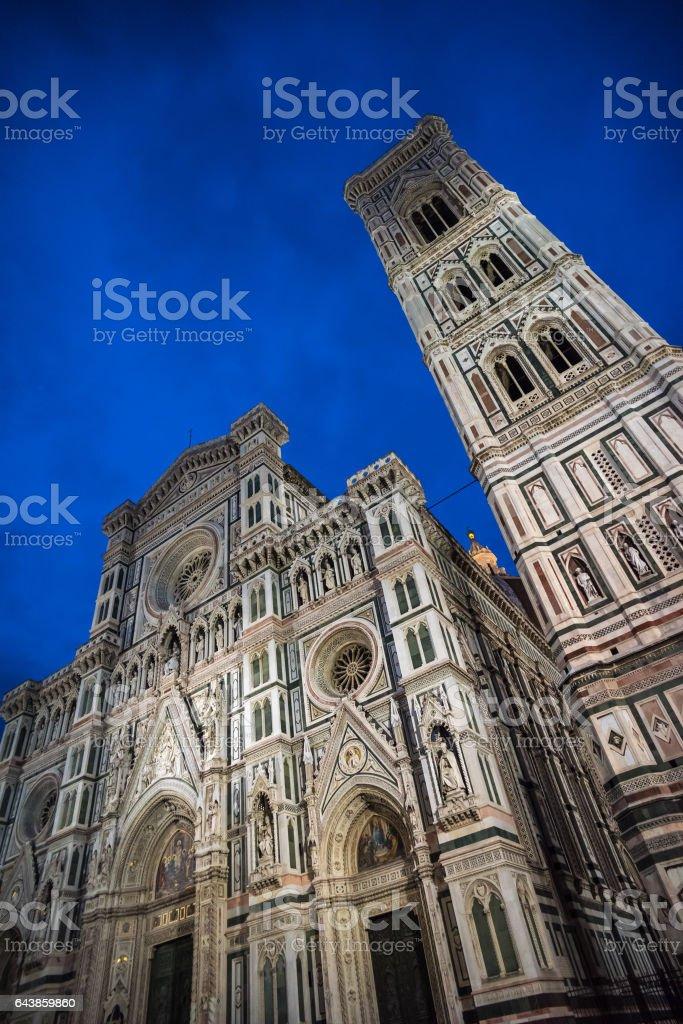 Giotto's Campanile and Santa Maria del Fiore Cathedral, Florence stock photo
