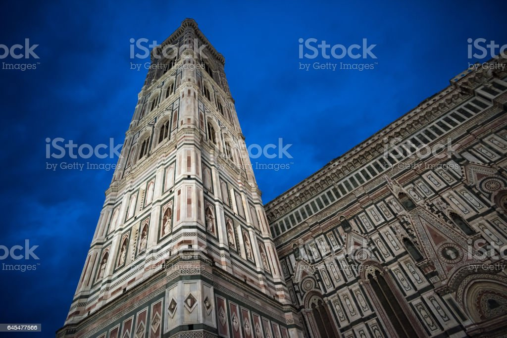 Giotto's Campanile and Santa Maria del Fiore Cathedral, Florence stock photo