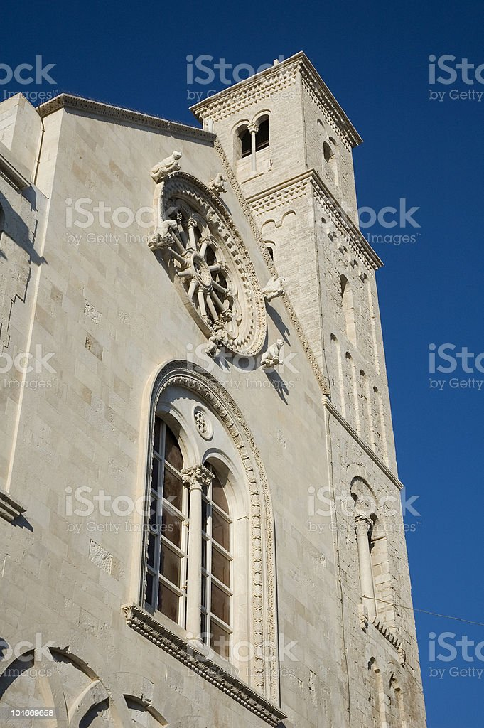 Giovinazzo's cathedral, Puglia - South Italy stock photo